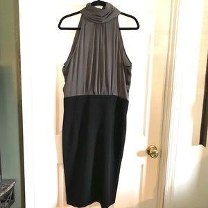 Zara basic two tone halter neck pencil skirt sz 12